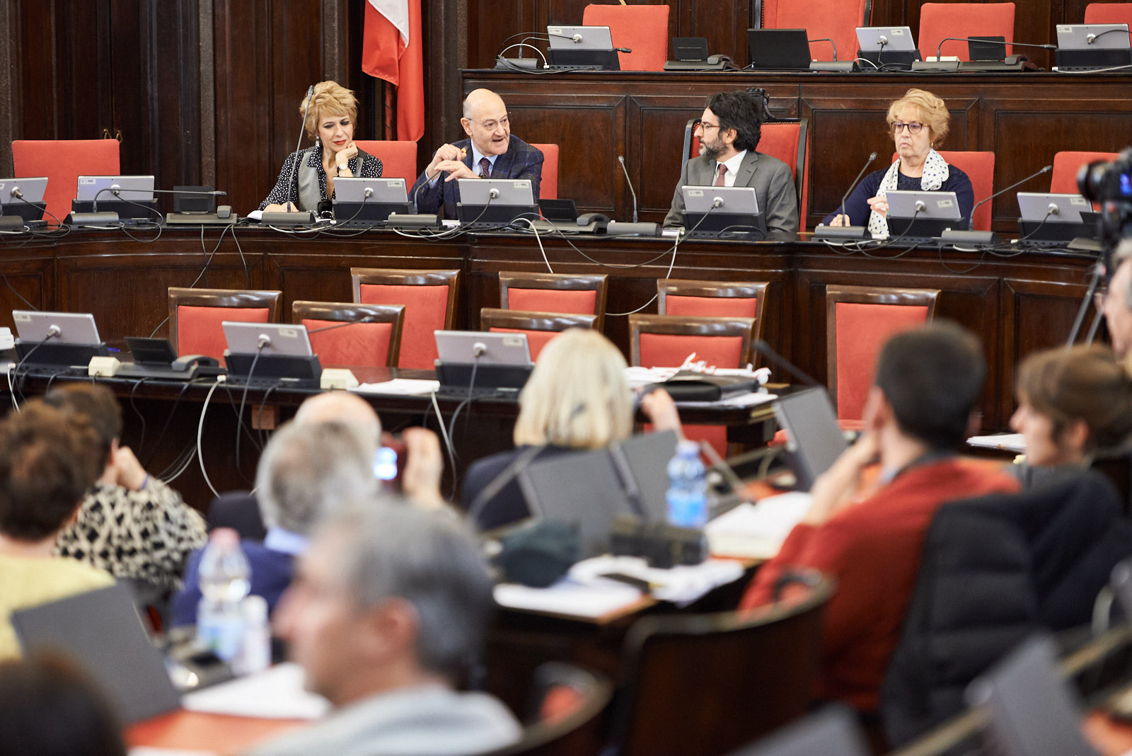 Gianna Coletti, Gabriele Nissim, Lamberto Bertolé and Ulianova Radice