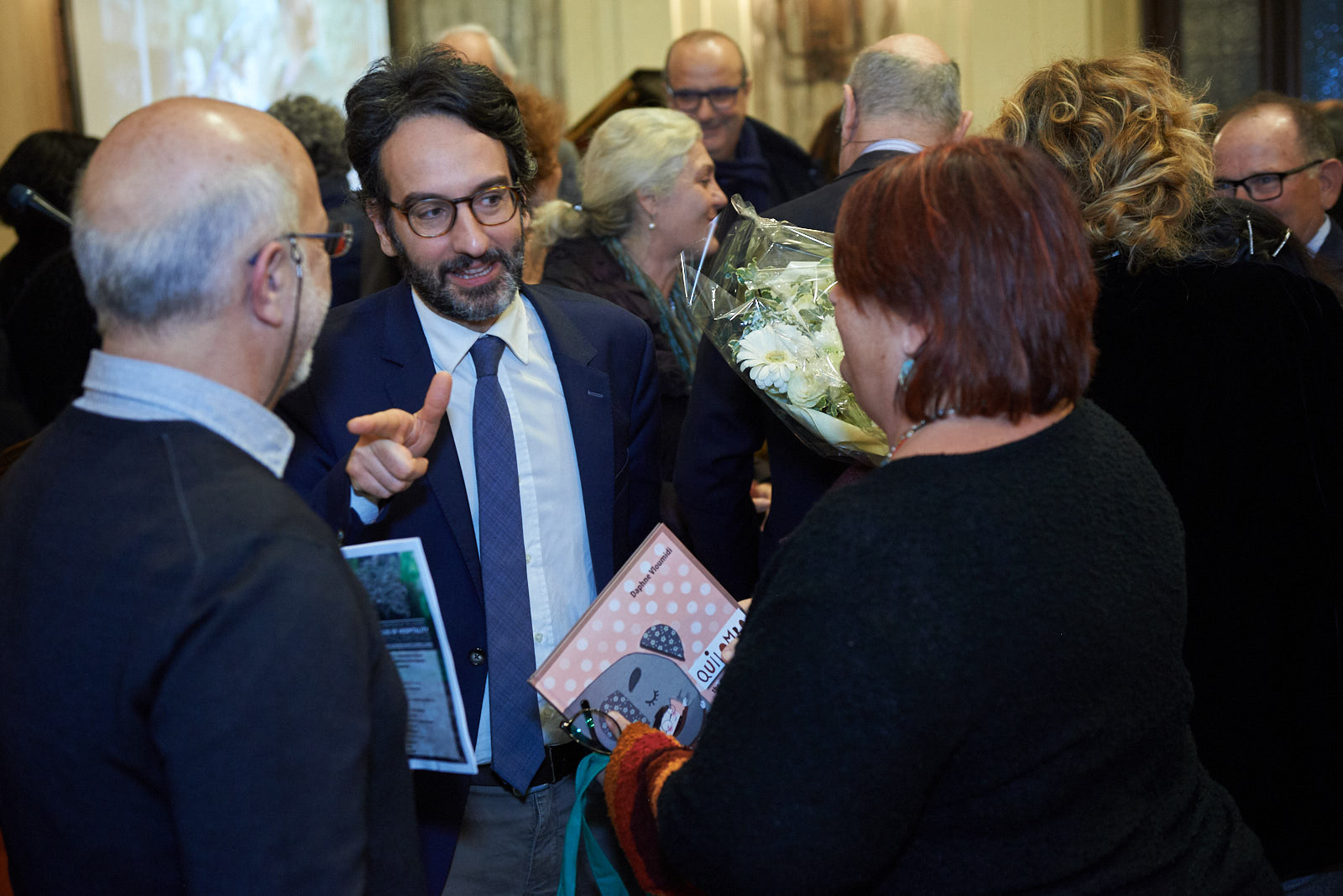 Lamberto Bertolé with Daphne Vloumidi and Iannis Troumpounis