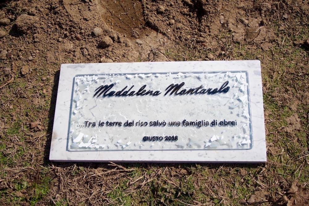 A Plaque in Vercelli for Maddalena Montarolo