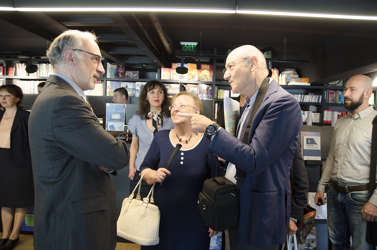 Vesselin Metodiev, historian; Neli Radanova, editor of the new edition of the book; Gabriele Nissim, writer and journalist