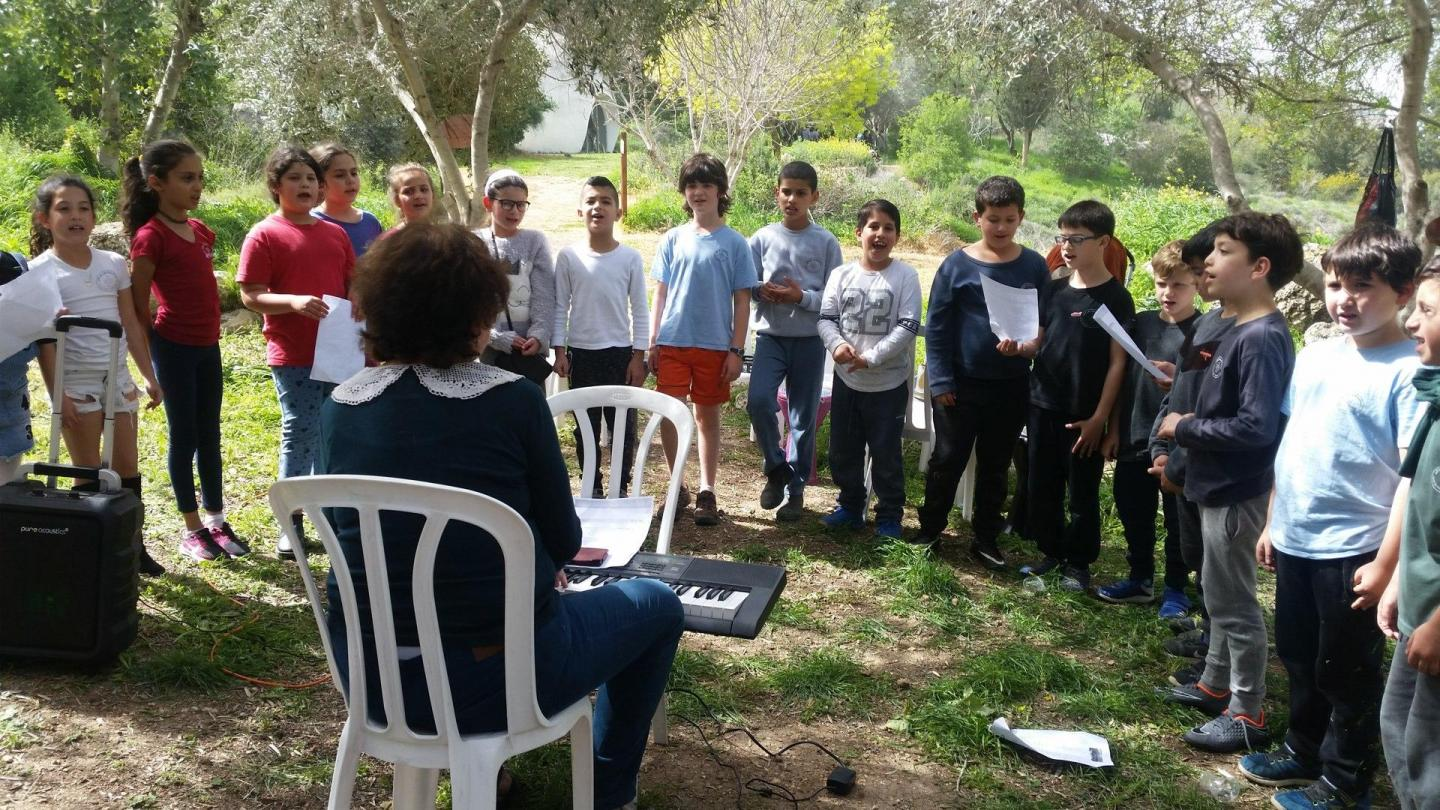The choir of the primary school of Neve Shalom - Wahat Al-Salam