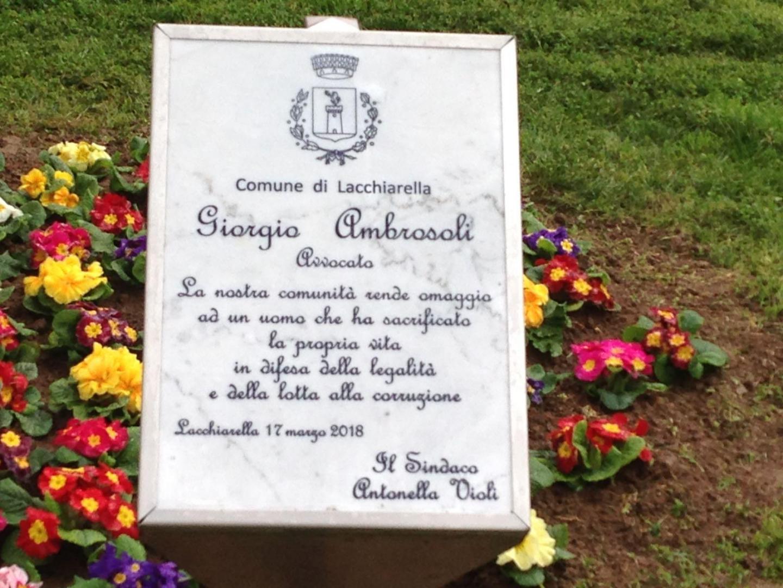 Giorgio Ambrosoli honoured in Lacchiarella
