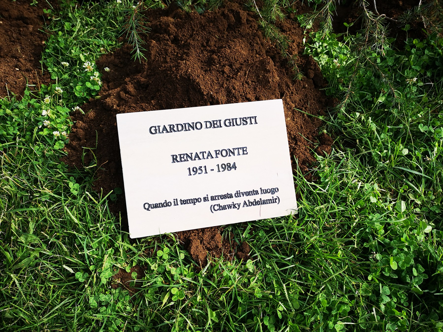 The Tree of the Righteous dedicated to Renata Fonte