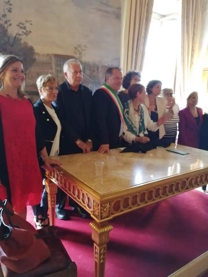 Group photo at the end of the conference in the Sala Zuccari at Palazzo Caetani