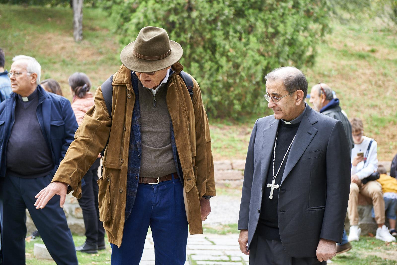 Monsignor Mario Delpini, archbishop of Milan with Gabriele Nissim, president of Gariwo