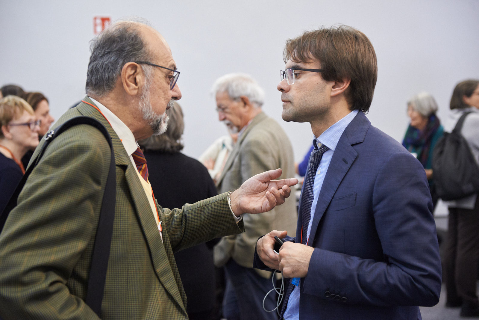 Giorgio Mortara, vice-president UCEI, with Stefano Pasta, journalist and researcher at CREMIT