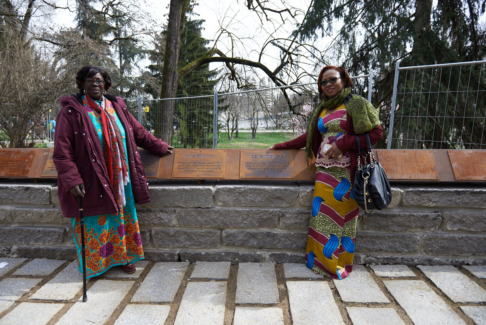 With the plaques for Maathai and Mukwege