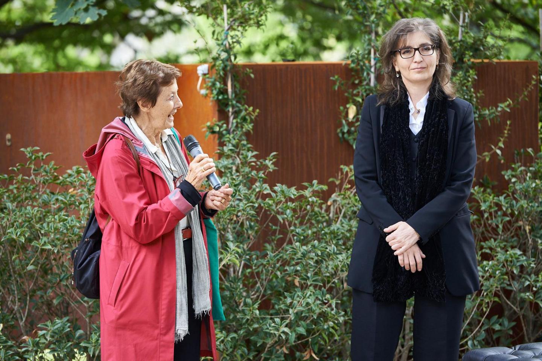 Anna Maria Samuelli, co-founder of Gariwo, with Ani Martirosyan