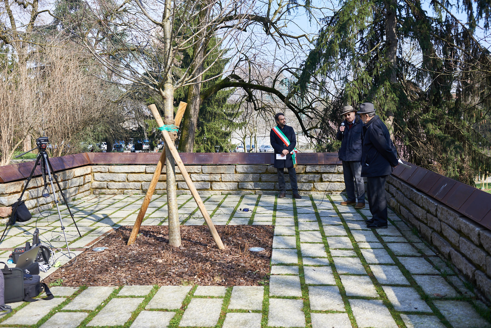 Tree of Memory at the Garden of the Righteous in Milan