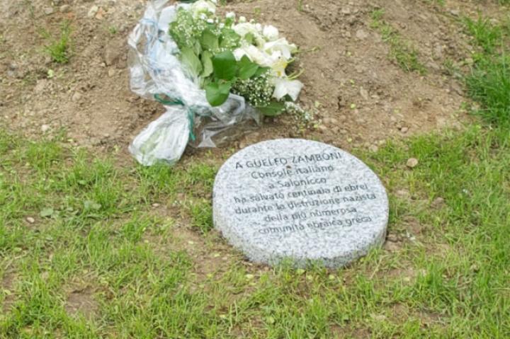The stone for the diplomat Guelfo Zamboni