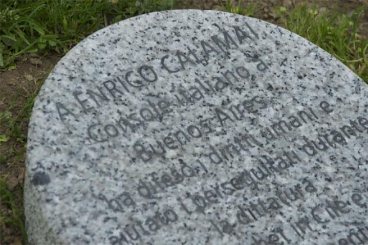 Enrico Calamai's stone