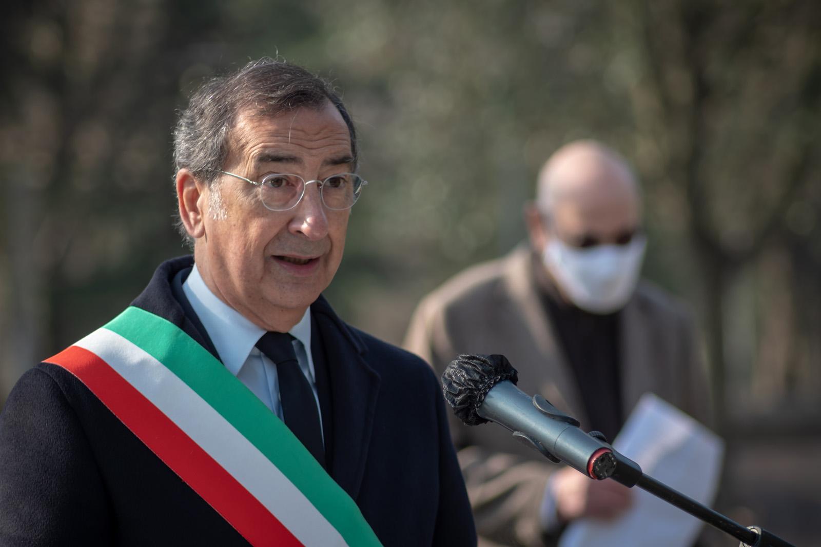 The intervention of the Mayor Giuseppe Sala