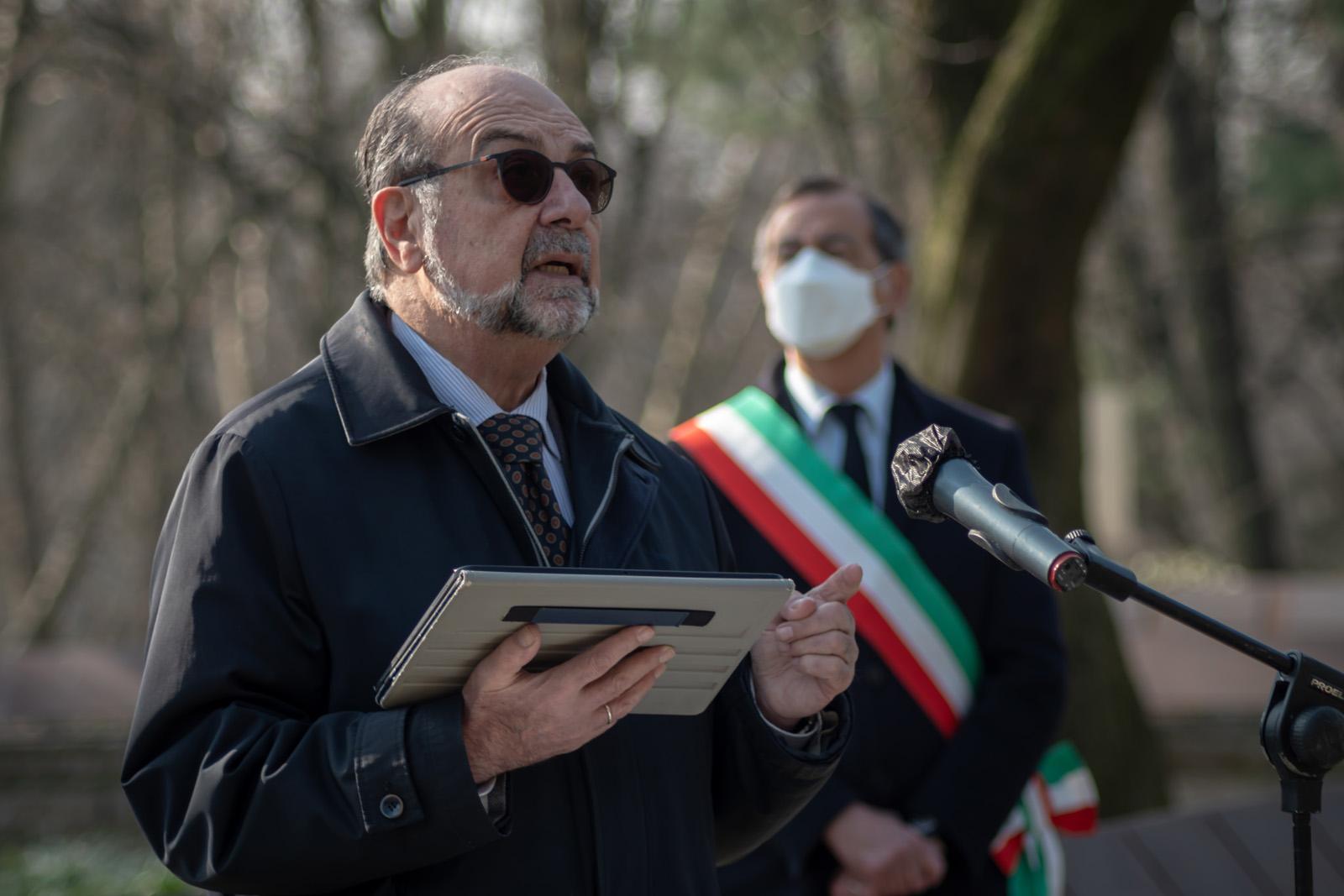 The speech by UCEI Vice President Giorgio Mortara