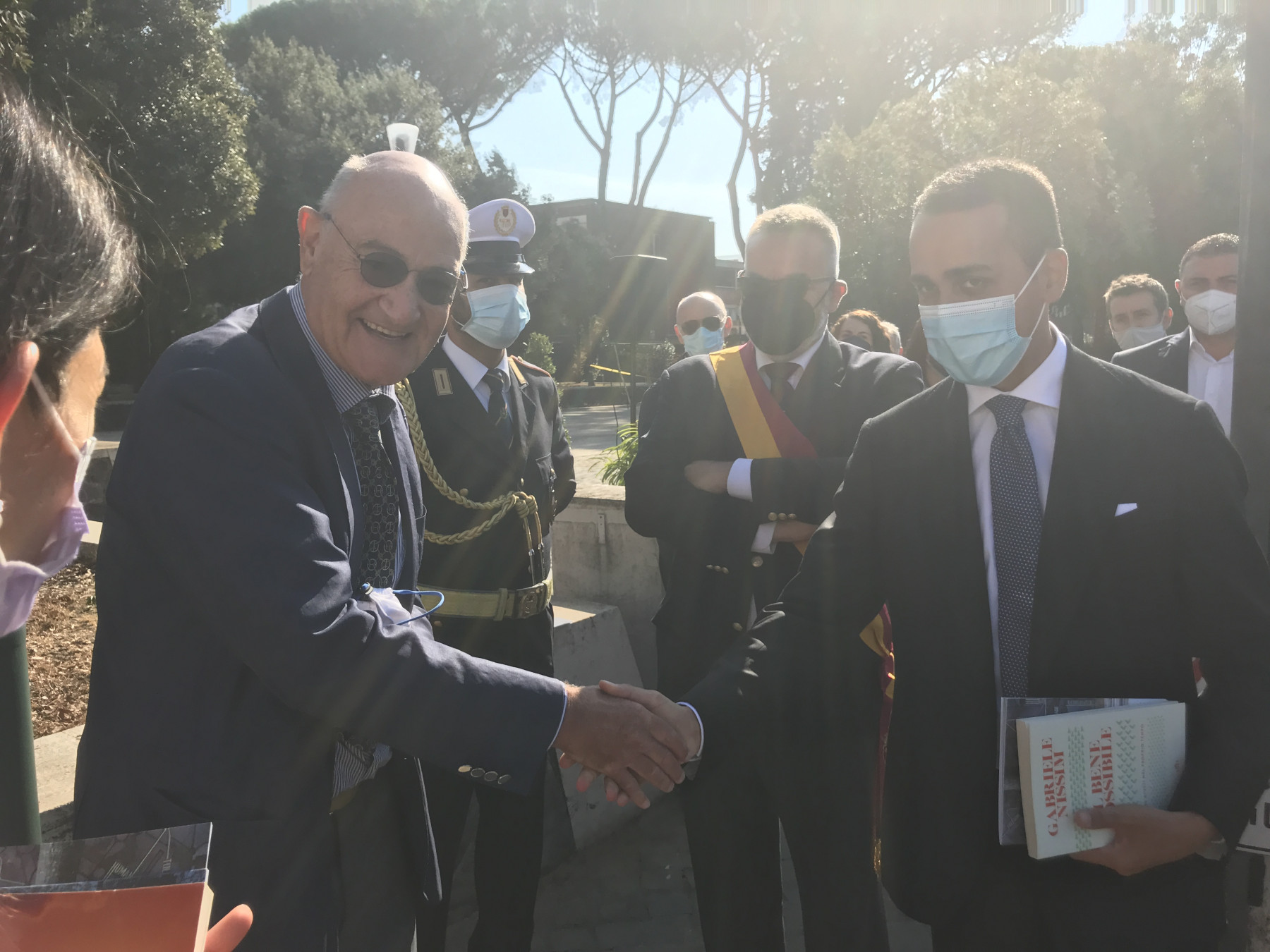Gabriele Nissim with the Minister of Foreign Affairs and International Cooperation Luigi Di Maio
