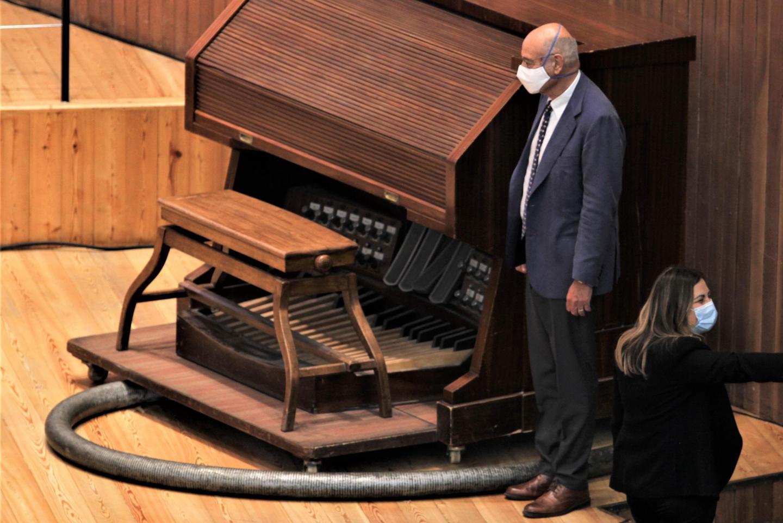 "Gabriele Nissim, Gariwo's president, at the Conservatorio di Musica ""Giuseppe Verdi"" of Milan for the award ceremony"