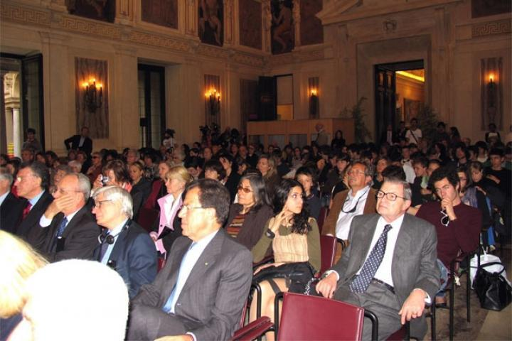 The audience in Sala Alessi
