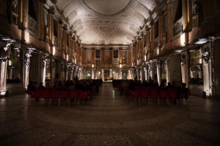 The prestigious Room of Caryatids in Palazzo Reale