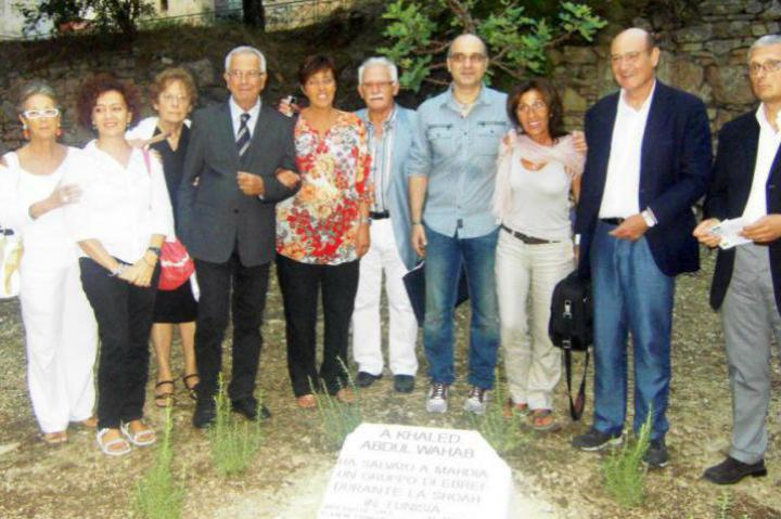 All in front of the stone dedicated to the Tunisian Righteous