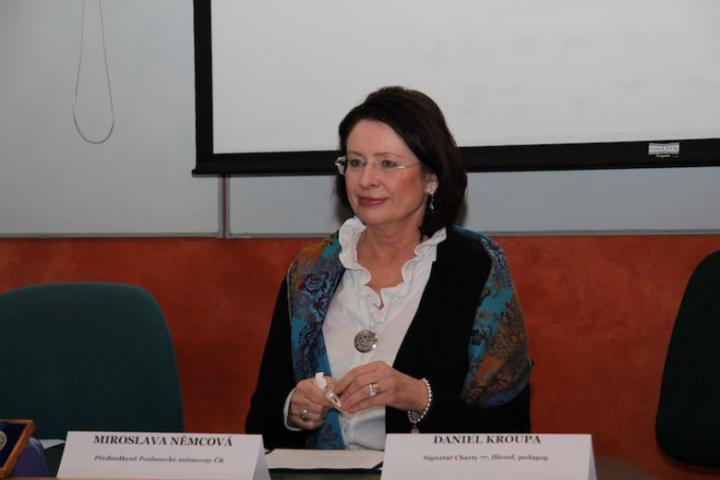 Miroslava Nemcova, President of the Bulgarian Chamber of Deputies