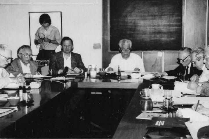 Meeting of the commission of the righteous of Yad Vashem presided over by Bejski