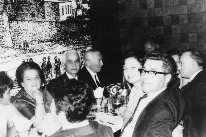 Bejski with the survivors of Schindler's List