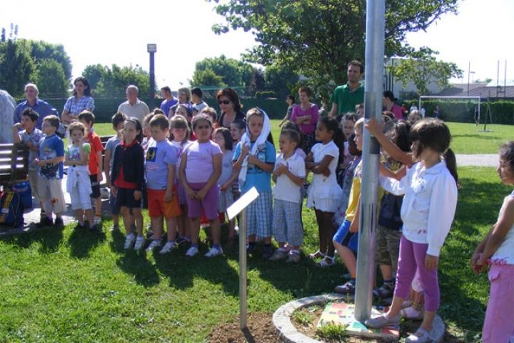 Children attending the ceremony