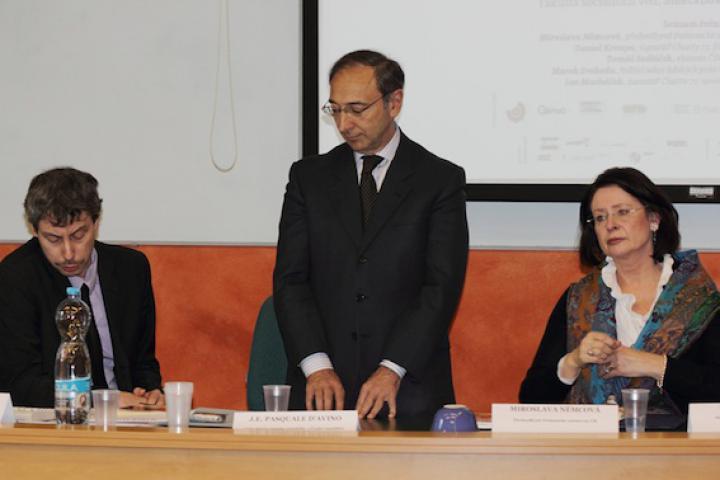 Italian Ambassador to the Czech Republic, H.E. Pasquale D'Avino