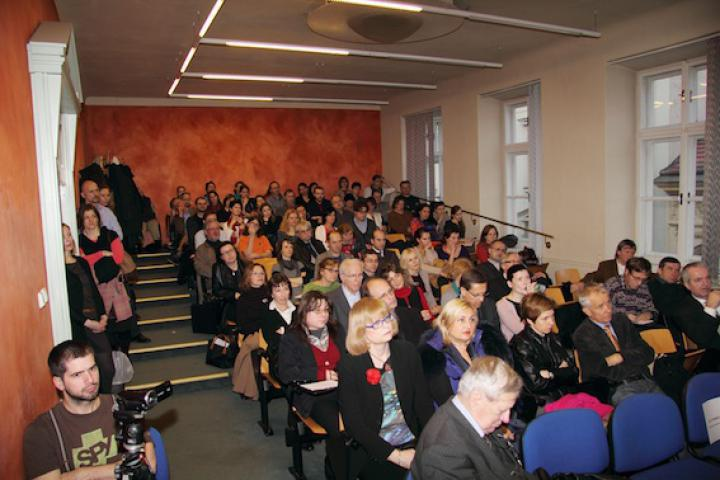 The audience at the Prague conference