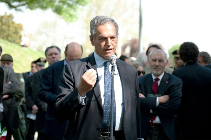 The president of the Jewish Community of Milano, Roberto Jarach