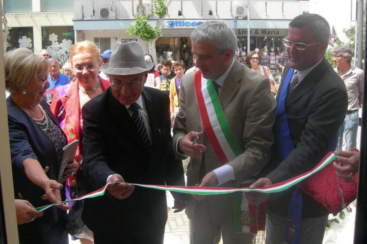 Inauguration of the exhibit in honour of Giorgetti and Carugno, 17th June 2011