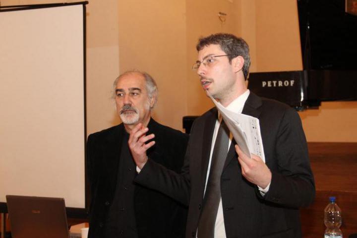 Andreas Pieralli with the Maestro Gaetano Liguori
