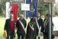 From the left: Lidiano Zanzi, President of Endas, Eugenio Fusignani, vice mayor of Ravenna, Eleonora Proni, mayor of Bagnacavallo,  Luca Piovaccari, mayor of Cotignola, Romano Tambini.