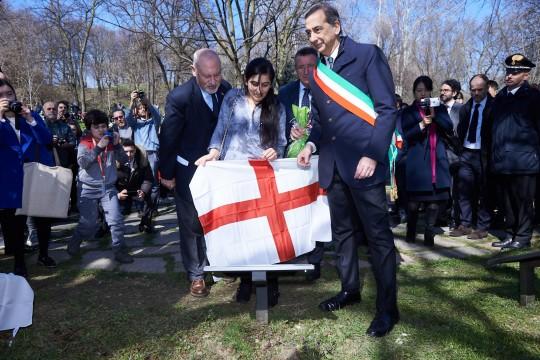 Pietro Kuciukian, Farida Abbas and the Mayor Sala