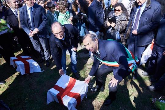 Costantino Baratta and the Mayor Sala