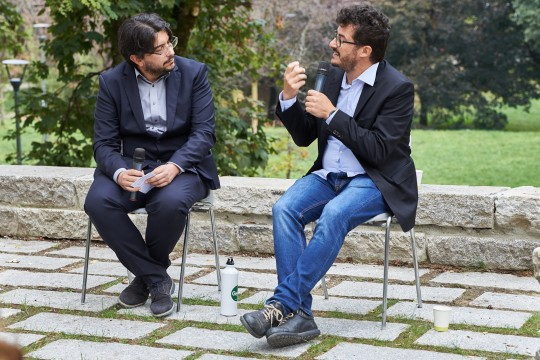 Simone Zoppellaro and Emanuele Bompan,  journalist and geographer