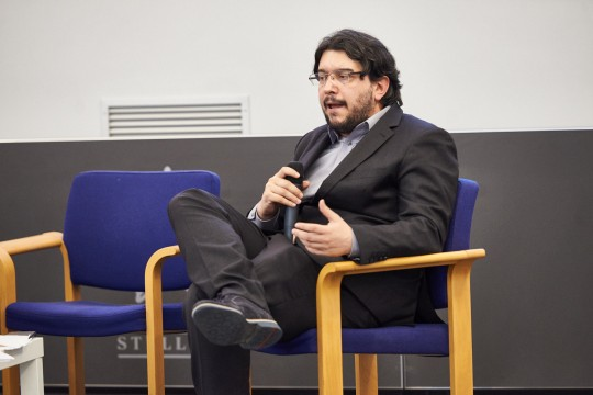 Simone Zoppellaro, journalist and environment panel moderator
