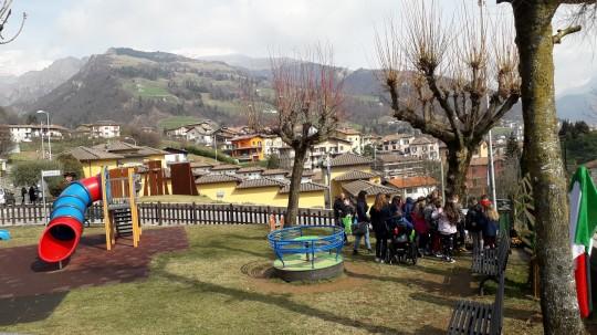 a new Garden in the Park of Don Antonio Seghezzi street in Premolo