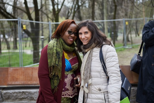 Christine Amisi with Martina Landi