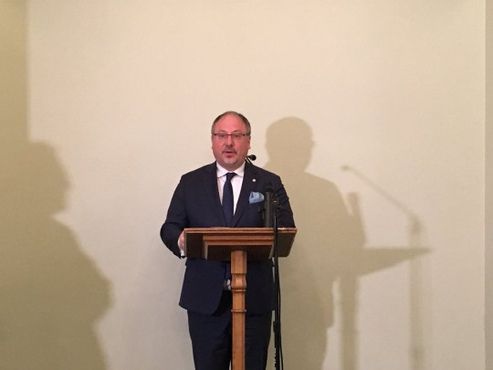 Arkady Rzegocki, Ambassador of the Republic of Poland in London opens celebrations in the Houses of Parliament in London