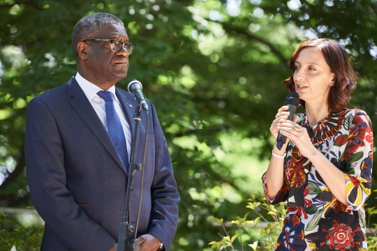 Denis Mukwege with Anna Pozzi, journalist