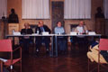 The speakers at the afternoon discussion in Nievo hall