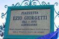 The inscription in honour of Ezio Giorgetti