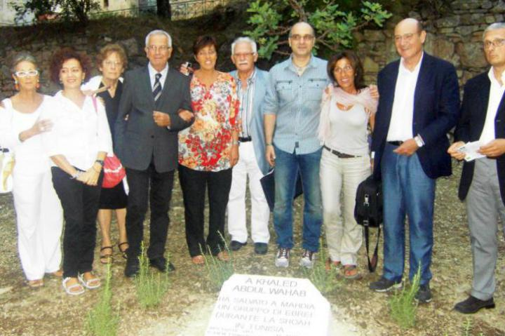 Memorial plaque dedicated to Khaled Abdul Wahab